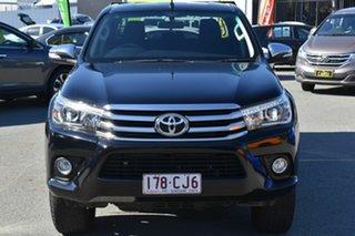 2017 Toyota Hilux GUN126R SR5 (4x4) Black 6 Speed Automatic Dual Cab Utility.