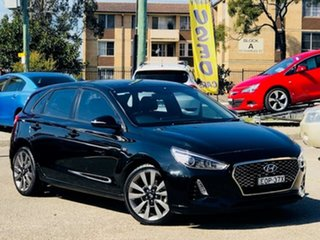 2017 Hyundai i30 PD MY18 SR Black 6 Speed Manual Hatchback.