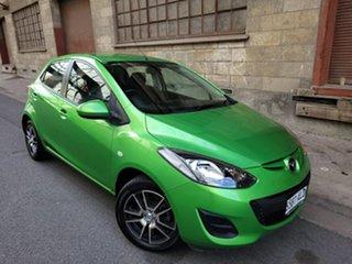 2011 Mazda 2 DE10Y1 MY11 Neo Spirited Green 4 Speed Automatic Hatchback.