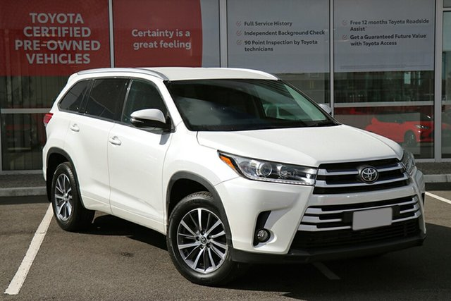 Pre-Owned Toyota Kluger GSU50R GXL 2WD South Morang, 2019 Toyota Kluger GSU50R GXL 2WD Crystal Pearl 8 Speed Sports Automatic Wagon