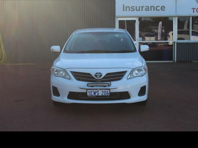 Pre-Owned Toyota Corolla ZRE152R MY11 Ascent Esperance, 2012 Toyota Corolla ZRE152R MY11 Ascent Glacier White 4 Speed Automatic Sedan