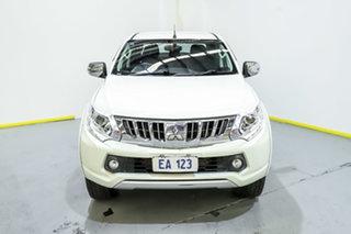2016 Mitsubishi Triton MQ MY16 GLS Double Cab White 6 Speed Manual Utility.