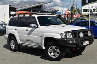 2011 Nissan Patrol GU VII ST (4x4) White 4 Speed Automatic Wagon.