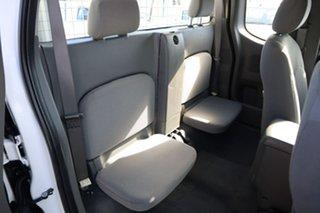 2010 Nissan Navara D40 ST-X King Cab White 5 Speed Automatic Utility