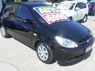 2007 Hyundai Getz TB MY07 SX Black 4 Speed Automatic Hatchback.