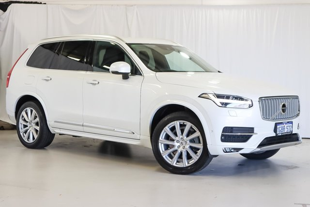 Used Volvo XC90 L Series MY16 D5 Geartronic AWD Inscription Wangara, 2016 Volvo XC90 L Series MY16 D5 Geartronic AWD Inscription White 8 Speed Sports Automatic Wagon