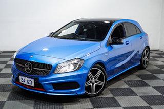 2015 Mercedes-Benz A-Class W176 805+055MY A250 D-CT Sport Blue 7 Speed Sports Automatic Dual Clutch.