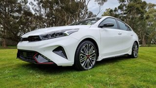 2021 Kia Cerato BD MY22 GT DCT Clear White 7 Speed Automatic Hatchback.