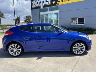 2011 Hyundai Veloster FS Coupe D-CT Blue 6 Speed Sports Automatic Dual Clutch Hatchback.