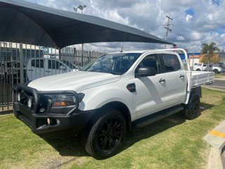 2018 Ford Ranger PX MkII MY17 Update 3.2 XL Plus (4x4) White 6 Speed Automatic Crew Cab Chassis.