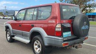 1998 Toyota Landcruiser Prado VZJ95R GXL Red 4 Speed Automatic Wagon.