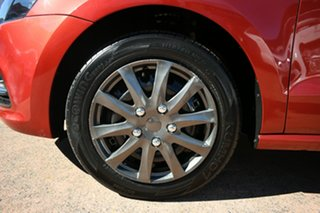 2015 Volkswagen Polo 6R MY15 66 TSI Trendline Orange 5 Speed Manual Hatchback.
