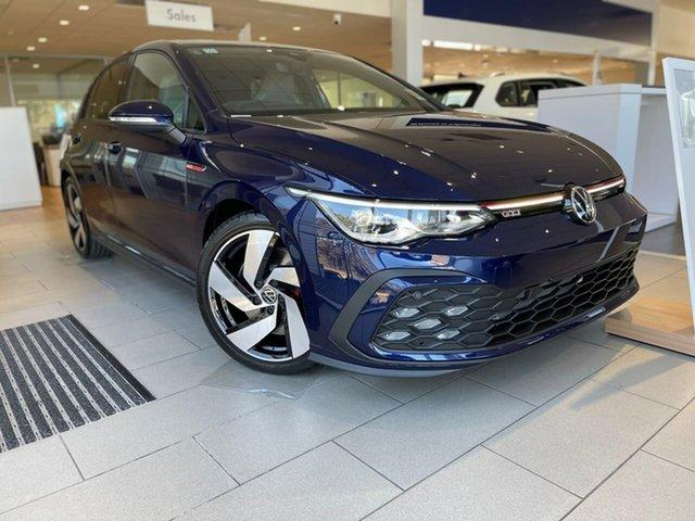 New Volkswagen Golf 8 MY21 GTI DSG Liverpool, 2021 Volkswagen Golf 8 MY21 GTI DSG Atlantic Blue 7 Speed Sports Automatic Dual Clutch Hatchback