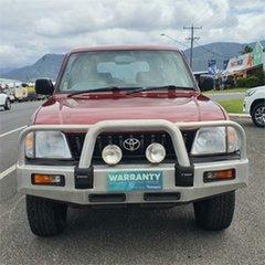 1998 Toyota Landcruiser Prado VZJ95R GXL Red 4 Speed Automatic Wagon