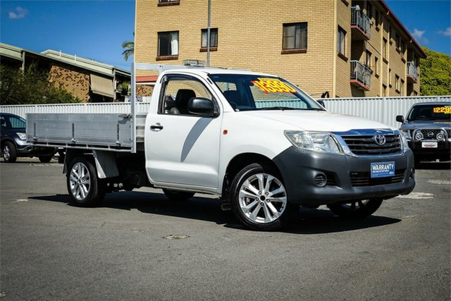 Used Toyota Hilux TGN16R MY12 Workmate 4x2 Moorooka, 2012 Toyota Hilux TGN16R MY12 Workmate 4x2 White 5 Speed Manual Cab Chassis