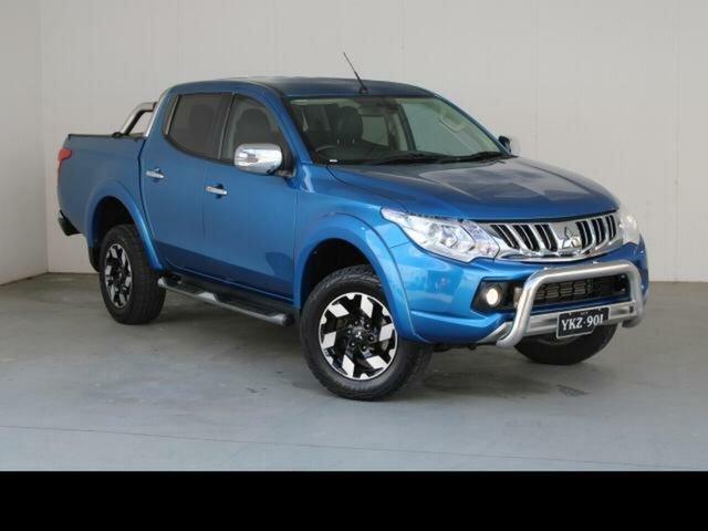 Used Mitsubishi Triton MQ MY16 Exceed (4x4) Fyshwick, 2016 Mitsubishi Triton MQ MY16 Exceed (4x4) Blue 5 Speed Automatic Dual Cab Utility