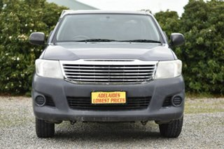 2012 Toyota Hilux TGN16R MY12 Workmate 4x2 Grey 5 Speed Manual Cab Chassis.