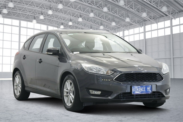 Used Ford Focus LZ Trend Victoria Park, 2015 Ford Focus LZ Trend Grey 6 Speed Automatic Hatchback