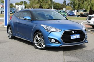 2016 Hyundai Veloster FS5 Series II SR Coupe D-CT Turbo Blue 7 Speed Sports Automatic Dual Clutch.