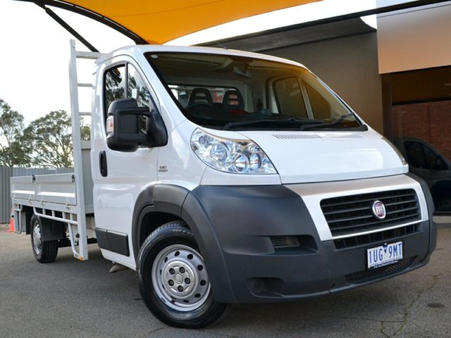 Used Fiat Ducato Series II MY12 Fawkner, 2014 Fiat Ducato Series II MY12 White 6 Speed Manual Cab Chassis