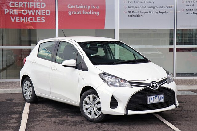 Pre-Owned Toyota Yaris NCP130R Ascent South Morang, 2016 Toyota Yaris NCP130R Ascent White 5 Speed Manual Hatchback