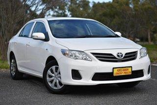 2013 Toyota Corolla ZRE152R Ascent White 4 Speed Automatic Sedan.