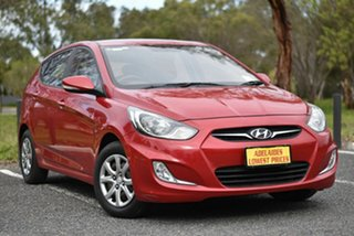 2011 Hyundai Accent RB Active Red 5 Speed Manual Hatchback.
