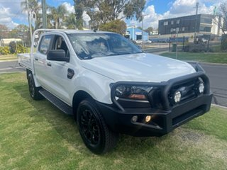 2018 Ford Ranger PX MkII MY17 Update 3.2 XL Plus (4x4) White 6 Speed Automatic Crew Cab Chassis