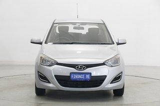 2013 Hyundai i20 PB MY13 Active Sleek Silver 4 Speed Automatic Hatchback.