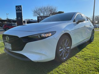2019 Mazda 3 BP2HLA G25 SKYACTIV-Drive GT Snowflake White 6 Speed Sports Automatic Hatchback.