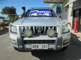 2005 Toyota Landcruiser Prado KZJ120R Grande Silver 4 Speed Automatic Wagon.