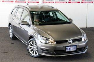 2014 Volkswagen Golf AU MY14 103 TSI Highline Grey 7 Speed Auto Direct Shift Wagon.