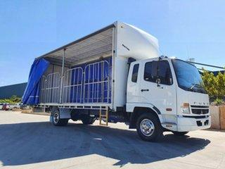 2010 Mitsubishi Fighter Fighter 6 Truck White Curtain Sider