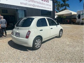 2009 Nissan Micra K12 City Collection White 4 Speed Automatic Hatchback.