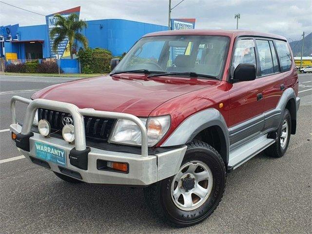 Used Toyota Landcruiser Prado VZJ95R GXL Bungalow, 1998 Toyota Landcruiser Prado VZJ95R GXL Red 4 Speed Automatic Wagon