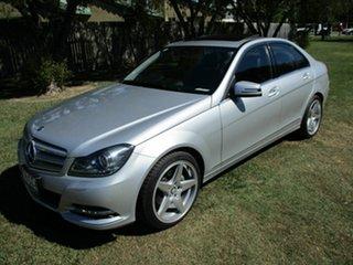 2013 Mercedes-Benz C-Class W204 MY13 C250 7G-Tronic + Avantgarde Silver 7 Speed Sports Automatic