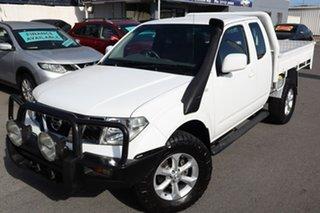 2010 Nissan Navara D40 ST-X King Cab White 5 Speed Automatic Utility.