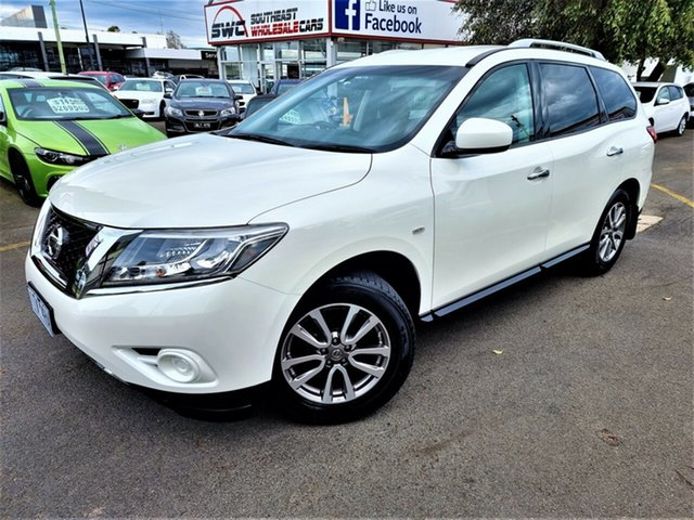 Used Nissan Pathfinder R52 MY15 ST X-tronic 2WD Seaford, 2015 Nissan Pathfinder R52 MY15 ST X-tronic 2WD White 1 Speed Constant Variable Wagon