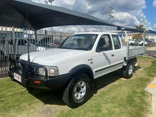 2003 Ford Courier PG XL (4x4) White 5 Speed Manual Super Cab Chassis.