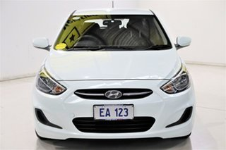 2015 Hyundai Accent RB2 MY15 Active White 4 Speed Sports Automatic Hatchback.