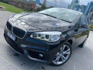 2014 BMW 2 Series F45 220i Active Tourer Steptronic Luxury Line Black 8 Speed Automatic Hatchback.