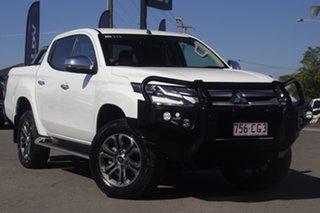 2019 Mitsubishi Triton MR MY20 GLS Double Cab Premium White Solid 6 Speed Sports Automatic Utility.