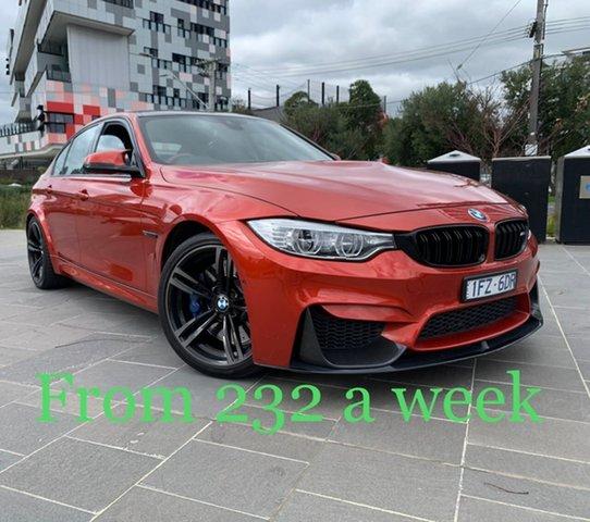 Used BMW M3 F80 LCI M-DCT South Melbourne, 2016 BMW M3 F80 LCI M-DCT Orange 7 Speed Sports Automatic Dual Clutch Sedan