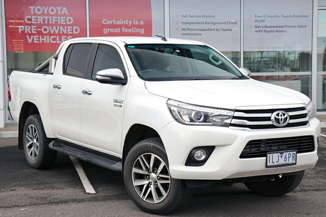 Pre-Owned Toyota Hilux GUN126R SR5 Double Cab South Morang, 2017 Toyota Hilux GUN126R SR5 Double Cab White 6 Speed Manual Utility