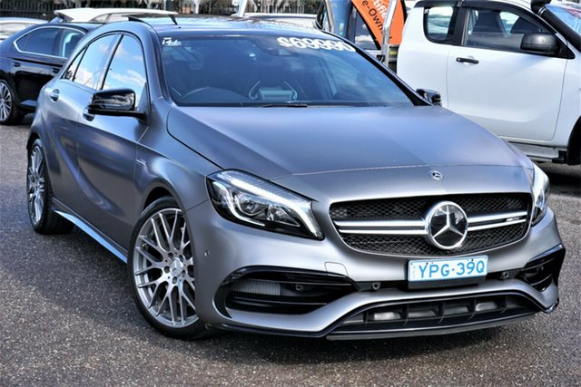 Used Mercedes-Benz A-Class W176 808+058MY A45 AMG SPEEDSHIFT DCT 4MATIC Phillip, 2018 Mercedes-Benz A-Class W176 808+058MY A45 AMG SPEEDSHIFT DCT 4MATIC Grey 7 Speed