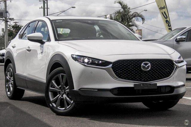 New Mazda CX-30 DM4WLA G25 SKYACTIV-Drive i-ACTIV AWD Astina Waitara, 2021 Mazda CX-30 DM4WLA G25 SKYACTIV-Drive i-ACTIV AWD Astina White 6 Speed Sports Automatic Wagon