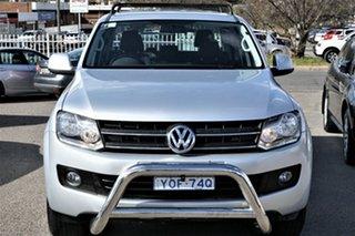 2013 Volkswagen Amarok 2H MY13 TDI420 4Motion Perm Trendline Silver 8 Speed Automatic Utility.