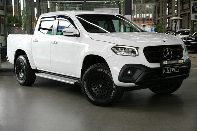 Used Mercedes-Benz X-Class 470 X250d 4MATIC Progressive North Melbourne, 2019 Mercedes-Benz X-Class 470 X250d 4MATIC Progressive White 7 Speed Sports Automatic Utility