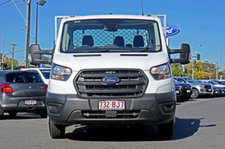2020 Ford Transit 470E Frozen White 6 Speed Manual Single Cab Cab Chassis.
