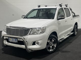 2013 Toyota Hilux GGN15R MY12 SR5 Double Cab 4x2 White 5 Speed Automatic Utility.